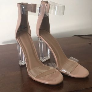 Shoes - NWT Clear/Nude Heels 😍